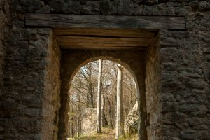 Tor der Burgruine Hohenmelchingen