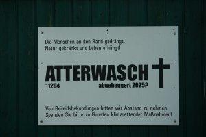 Todesanzeige von Atterwasch, Braunkohletagebau in der Lausitz