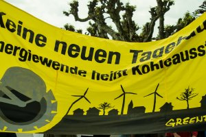 Demonstration: Energiewende statt Kohlekraft