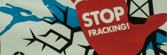 Demonstration gegen Fracking