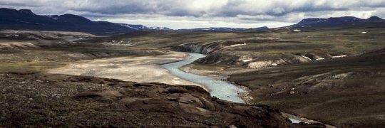 Flusstal in Grönland